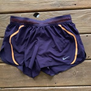 Purple/Orange Nike Running Shorts